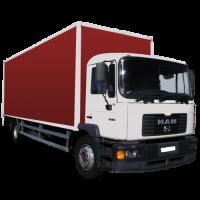 Доставка грузов на автомобиле МАН, грузоподъёмностью 10 тонн с гидро лопатой